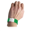 DuPont Tyvek Security Wristbands, Green, 100/PK (Set of 2 PK)