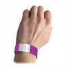 DuPont Tyvek Security Wristbands, Purple, 100/PK (Set of 2 PK)