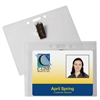 ID Badge Holders, Horizontal w/Clip, 4 x 3, 50/BX