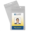 C-Line Zippered Badge Holders, Vertical, 50/PK