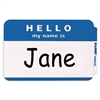 Pressure Sensitive Badges, HELLO my name is, Blue, 3 1/2 x 2 1/4, 100/BX (Set of 10 BX)