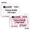 C-Line Badges for Direct Thermal Printers, Time's Up One Day Expiring Badges, 3 x 2, 200/BX