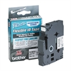 BROTHER INTL. CORP. TZ Flexible Tape Cartridge for P-Touch Labelers, 1/2in x 26.2ft, Black on White