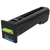 Lexmark CS820 CX820 CX825 CX860 Cyan Return Program Toner Cartridge for US Government (8000 Yield) (TAA Compliant Version of 72K10C0)