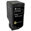 Lexmark CS720 CS725 High Yield Yellow Return Program Toner Cartridge for US Government (12000 Yield) (TAA Compliant Version of 74C1HY0)