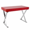 Luster Contemporary Office Desk In Light Red