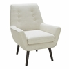 Vail Mid-Century Modern Accent Chair in Light Taupe