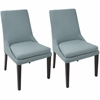Boulder Contemporary Dining Chairs in Teal  - Set Of 2