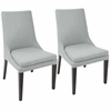 Boulder Contemporary Dining Chairs iin Grey  - Set Of 2