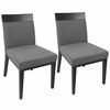Denver Contemporary Dining Chairs in Grey - Set Of 2