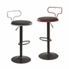 LumiSource Contour Contemporary Adjustable Barstool, Red / Black