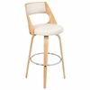 LumiSource Cecina Barstool with Swivel, Natural / Cream