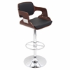 LumiSource Fiore Height Adjustable Barstool with Swivel, Cherry / Black