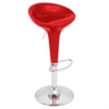 LumiSource Scooper Height Adjustable Barstool with Swivel, Red