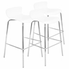 LumiSource Woodstacker Stackable Barstool - Set Of 3, White