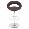 LumiSource Posh Height Adjustable Barstool with Swivel, Brown