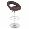 Posh Height Adjustable Barstool with Swivel, Brown