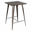 LumiSource Oregon Pub Table, Dark Espresso Top / Antique Finish