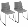 Arrow Contemporary Dining Chair in Black and Grey -Set of 2