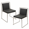 Cascade Stackable Dining Chair  Black, Set of 2