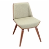 LumiSource Corazza Chair, Walnut / Green