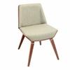 Corazza Chair, Walnut / Green