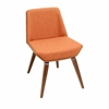 Corazza Chair, Walnut / Orange