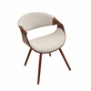 LumiSource Curvo Chair, Walnut / Cream