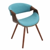 LumiSource Curvo Chair, Walnut / Teal