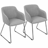 Daniella Contemporary Chair in Light Grey -Set of 2
