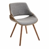 LumiSource Fabrizzi Chair, Walnut / Grey