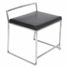 LumiSource Fuji Stackable Dining Chair  Black, Set of 2