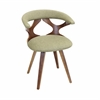 LumiSource Gardenia Chair, Walnut / Green