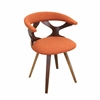 LumiSource Gardenia Chair, Walnut / Orange