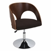 Ava Height Adjustable Chair with Swivel, Walnut / Brown