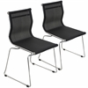 LumiSource Mirage Stackable Dining Chair Black, Set of 2