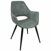 LumiSource Mustang Contemporary Accent Chair in Teal, Set of 2