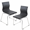 LumiSource Master Stackable Chair  Black, Set of 2