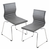 LumiSource Master Stackable Chair  Grey, Set of 2