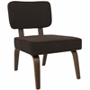 LumiSource Nunzio Mid-Century Modern Accent Chair in Espresso Fabric