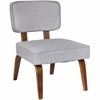 Nunzio Mid-Century Modern Accent Chair in Grey Fabric