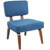 Nunzio Mid-Century Modern Accent Chair in Navy Blue Fabric