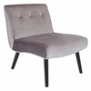 LumiSource Vintage Crush Chair, Silver