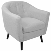 LumiSource Rockwell Mid-Century Modern Chair with Noise Fabric in Light Grey