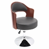 LumiSource Cello Height Adjustable Chair with Swivel, Cherry / Black