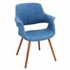 LumiSource Vintage Flair Chair, Walnut / Blue