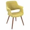 LumiSource Vintage Flair Chair, Walnut / Green