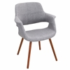 LumiSource Vintage Flair Chair, Light Grey