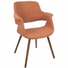 Vintage Flair Mid-Century Modern Dining / Accent in Orange