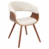 LumiSource Vintage Mod Chair, Walnut / Cream